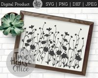Wildflower Floral Botanical Hand Drawn SVG PNG JPG DXF Product Image 5