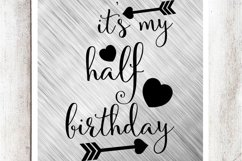 It's my Half Birthday SVG/DXF/EPS file Product Image 1
