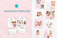 Beauty Pink Instagram Canva Tempates Post & Highlights Product Image 1