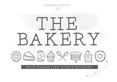 The Bakery - Handwritten Serif and Doodle Font Product Image 1