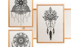 Hand Drawn Mandala & Floral Zentangle Collection Product Image 4
