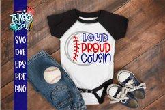 Loud Proud Baseball Softball Cousin SVG Product Image 1