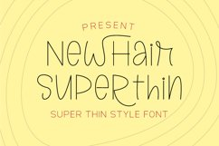 Newhair Super Thin - Single Line Font Product Image 1