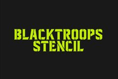 Blacktroops Stencil Product Image 1