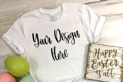 Easter Bella 3001 White Shirt Mockup Photo - Flat Lay Photo Product Image 2