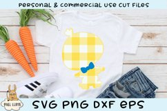 Plaid Boy Easter Chick SVG Product Image 1