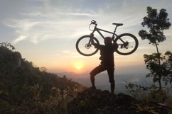 silhouette of natural scenery in the mountains of a man lift Product Image 1