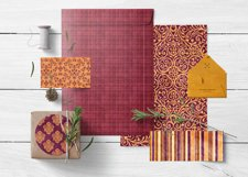 16 Royal Decree Burgundy & Gold Digital Paper Pack Product Image 6