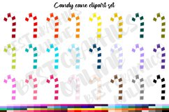 100 Christmas sweets candy cane clipart set, Christmas candy Product Image 1