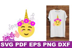 Unicorn emoji svg, Emoji Unicorn Svg files for cricut or Silhouette, Cut file, dxf pdf eps, printable, Unicorn svg, Emoji Svg, cutting files Product Image 3
