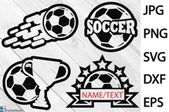 Soccer Designs - Clip art / Cutting Files 1354c Product Image 1