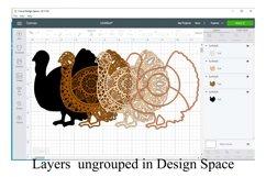 Thanksgiving Mandala SVG Bundle - 3D Layered Mandalas Product Image 5