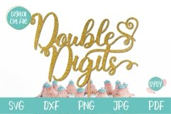 10th Birthday SVG | Double Digits Cake Topper SVG Product Image 1