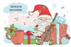 CHRISTMAS SONG New Year Santa Music Clip Art Pattern Vector Product Image 4