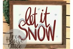 Let It Snow Christmas Song Quote Saying Holiday SVG DXF PNG Product Image 4
