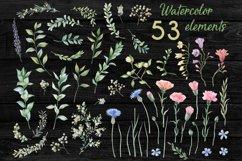 Romantic garden. Watercolor cliparts Product Image 3