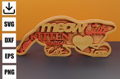 Kitten layered for decoration svg Product Image 1