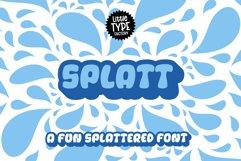 Splatt! a fat, splattered fun font Product Image 1