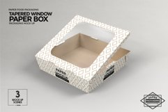 Paper Tapered Window Boxes Packaging Mockup Product Image 6