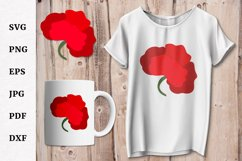 Poppy SVG for Remembrance or Anzac Day Cricut file Product Image 1