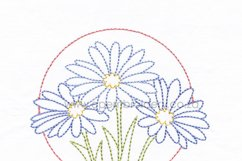 3 Daisy Flower Floral Circles Machine Embroidedery Design Product Image 6