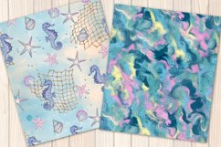 I washed up like this - Summer mermaid Seamless Patterns Product Image 3