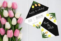 Asymmetric Tulips Wedding Invitation Kit Product Image 2