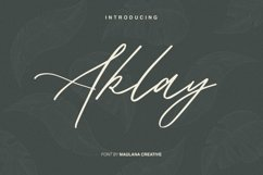 Aklay - Handwritten Font Product Image 1