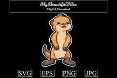 Meerkat SVG - Cartoon Animal SVG, EPS, PNG and JPG Product Image 1