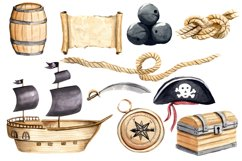 Pirates Clipart Watercolor Set Hand Painted Boy Illustration Product Image 2