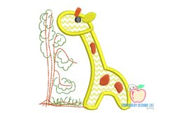 Baby Giraffe in Jungle Applique Product Image 2