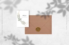 Geometric Foliage Wedding Invitation Suite Product Image 5