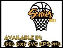 Basketball SVG DXF JPEG Silhouette Cameo Cricut Senior ball Product Image 2