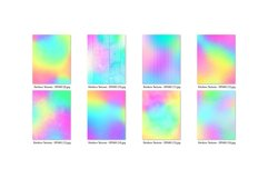 16 Pastel Rainbow Textures Scrapbook Papers Product Image 2