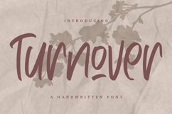 Web Font Turnover - Handwritten Font Product Image 1