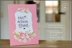 Foil Quill Flowers | Print & Foil single line sketch design Product Image 4