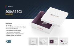 Square Box Mockup Product Image 1