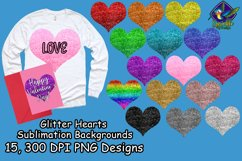 Glitter Hearts Sublimation Backgrounds Product Image 1