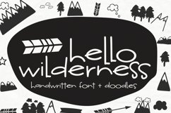 Hello Wilderness Font and Doodles Product Image 6