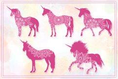 Unicorn Mandala SVG Cut Files Pack Product Image 6
