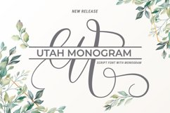 Utah Script With Monogram Product Image 1