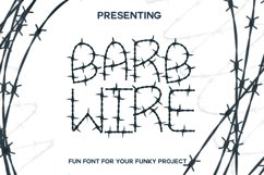Barb Wire : A Fun Font For Projects Product Image 1