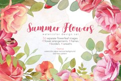 Watercolor Summer Flowers Clipart Product Image 1