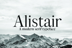 ALISTAIR FONT, A modern Serif Product Image 1