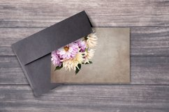Dahlias clipart. Bouquets of white and purple flowers. Product Image 5