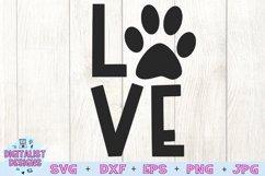Pawprint Love SVG | Dog SVG | Dog Quotes SVG Product Image 2