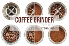 Steel Coffee Grinder Isolated Photo Product Image 1