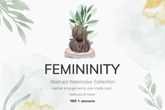 Watercolor abstract women collection Product Image 1