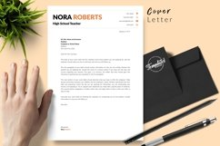Teacher Resume CV Template for Word & Pages Nora Roberts Product Image 5