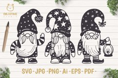 Scandinavian Gnomes SVG, Gnome Clipart, Tomte Product Image 1